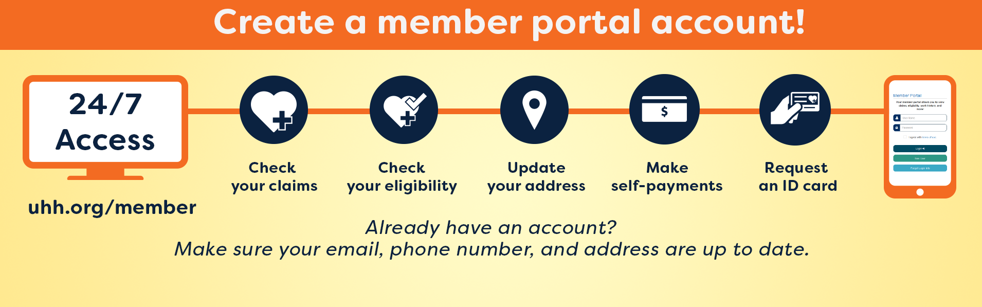 Visit our member portal!