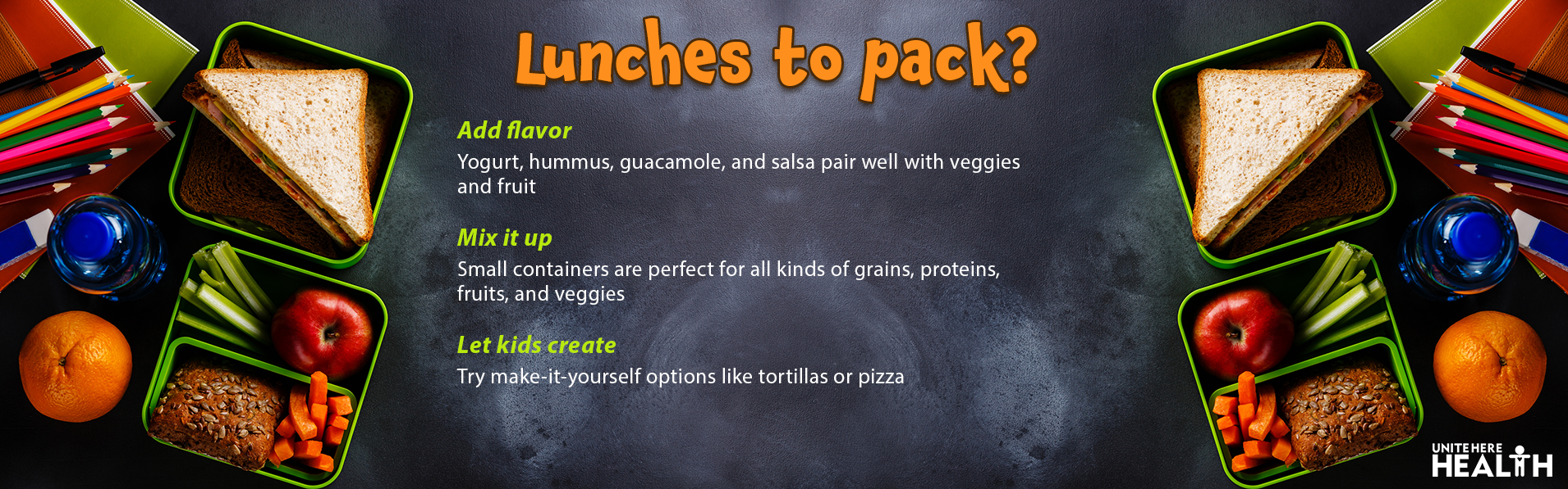 Back to School - Healthy Lunches